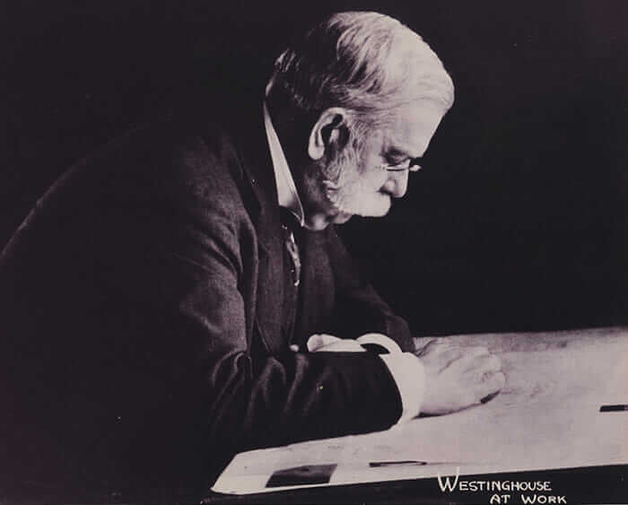 George Westinghouse at work in 1910.