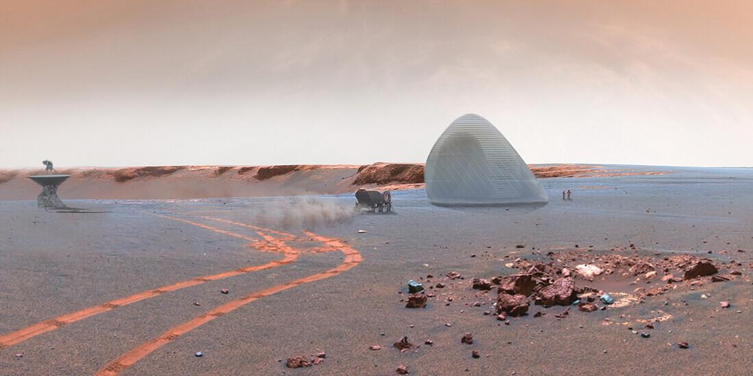 火星の氷の家 レンダリング