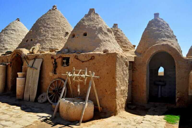 Beehive houses in Harran, Turkey.