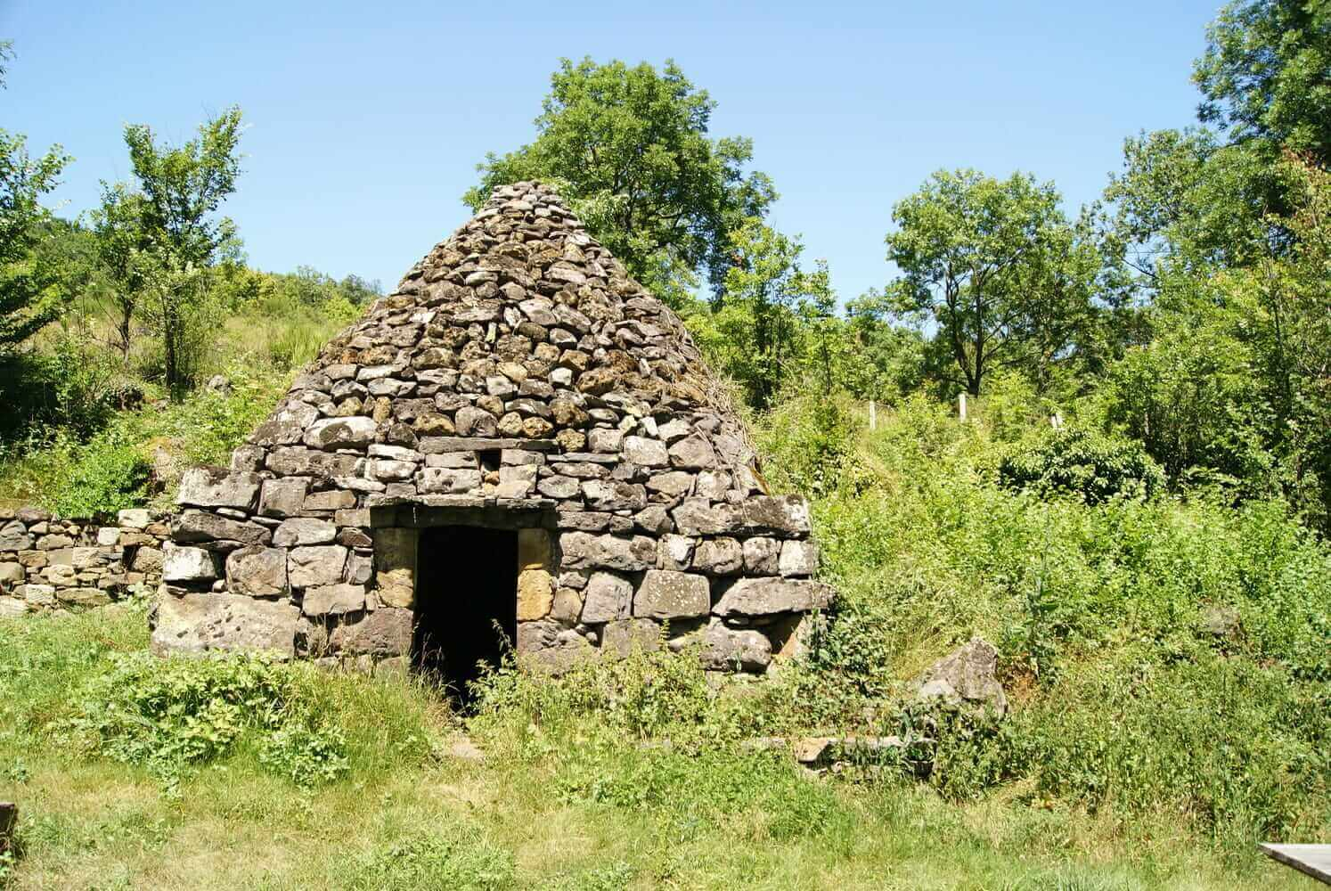 Dry-stone hut in Chibotte, France.