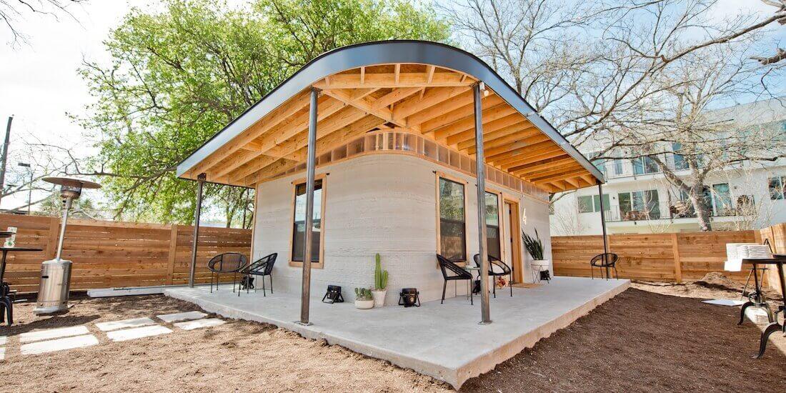New Story と ICON による3D プリント製コンクリート造住宅