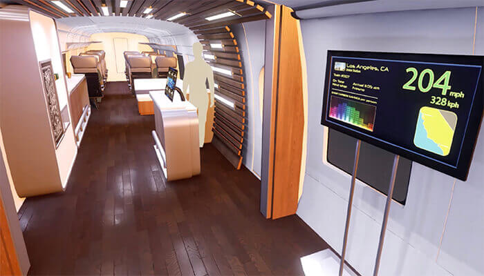 high speed train simulator lounge areas