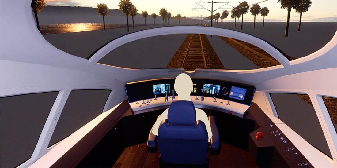 VR シミュレーターがカリフォルニア高速鉄道プロジェクトの合意形成に貢献