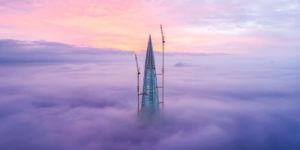 ロシアの超高層ビル、ラフタ・センター タワーのイノベーティブなエンジニアリング方法