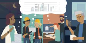 BIM で働き方改革: テレワークによる人材活用の取り組み