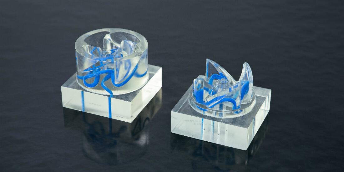 ジェネレーティブデザインが支援により自動設計が行われた金型冷却管のモデル