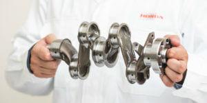 Honda がクランクシャフトの大幅軽量化でデザインする未来のエンジン