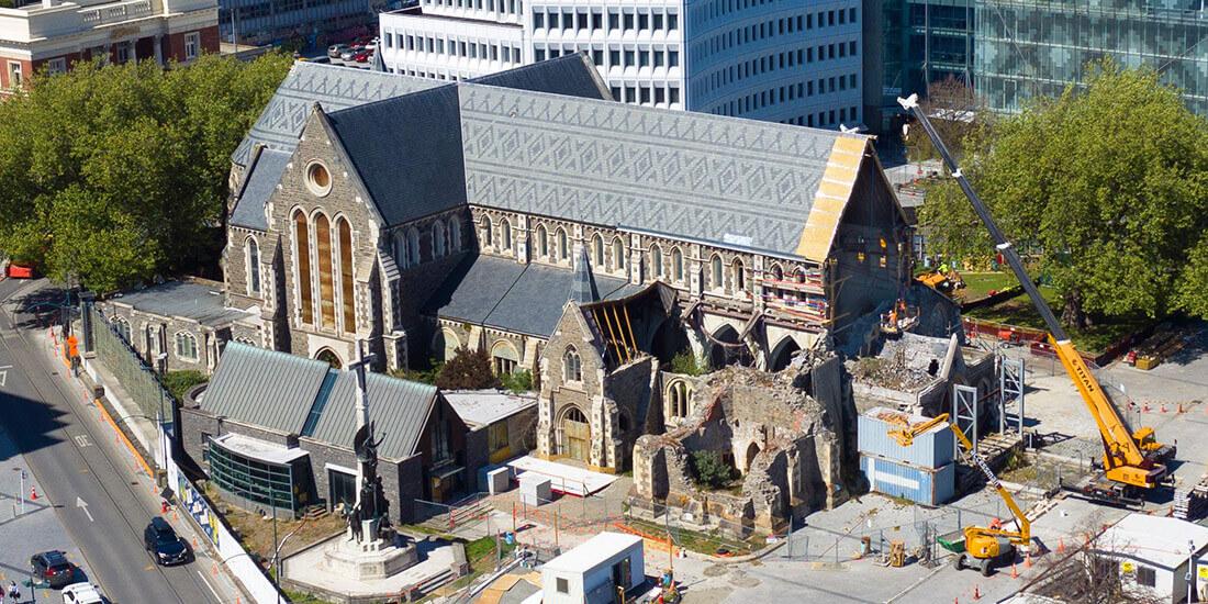 地震で倒壊したクライストチャーチ大聖堂をデジタル連携により再建