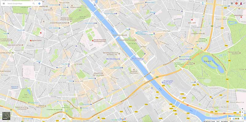Google Maps Paris