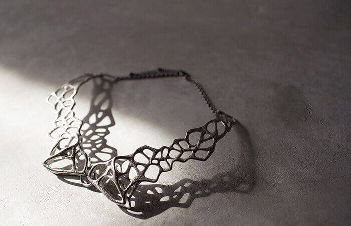 ai sato design voronoi collar necklace