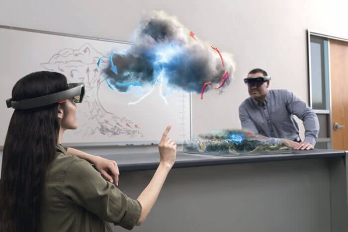 mixed reality in infrastructure people using hololens