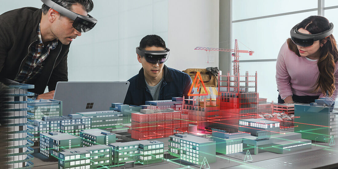 mixed reality for infrastructure people using hololens