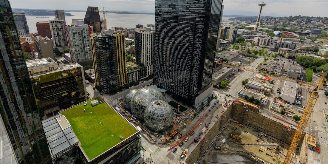 green builidng technology the spheres amazon seattle