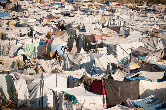 IDP camp in Haiti following 2010 earthquake