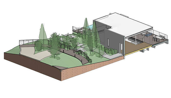 bim landscape architecture model residential project