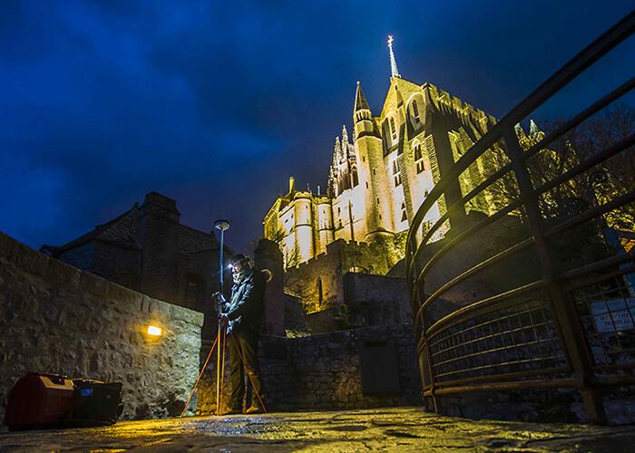 numérisation 3D : ici le Mont-Saint-Michel