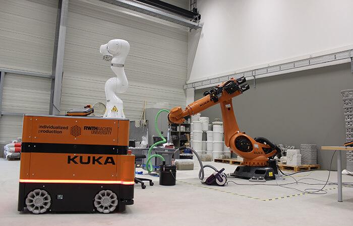 Construction Robotics conduit des recherches sur les robots en architecture.