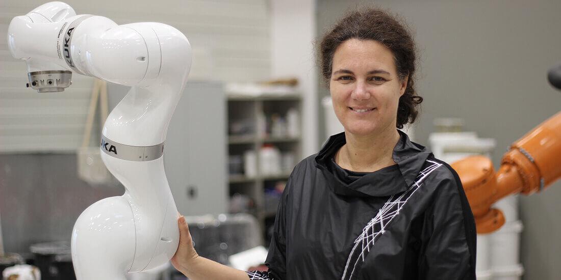 La professeure Sigrid Brell-Cokcan est une des spécialistes les plus éminentes en robotique du BTP