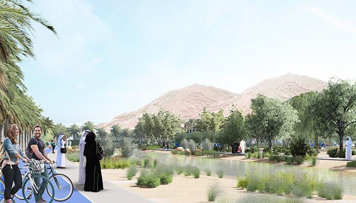 The Plantations Jebel Hafeet oueds conception générative