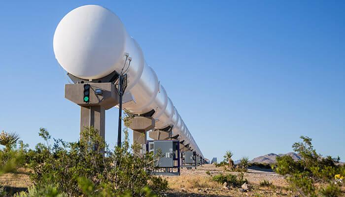 Piste d'essai de Virgin Hyperloop One au Nevada