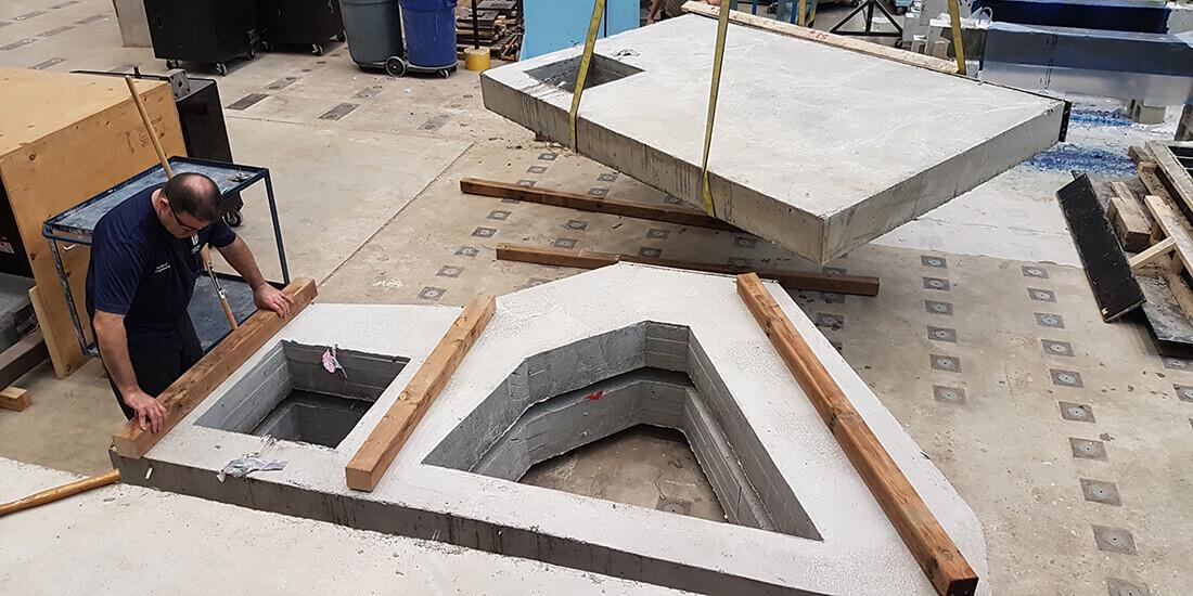 poutre cloison en béton durable créée grâce à la conception générative
