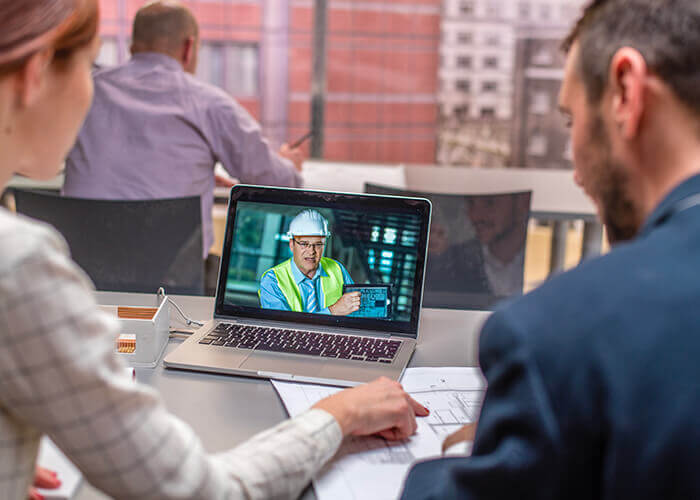 Inspection des travaux via vidéo et logiciels d'automatisation suite à la réouverture des chantiers