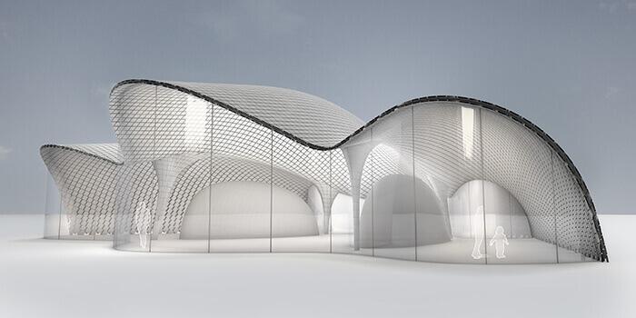 Biomimétisme et architecture durable : ici la toiture d'Abalone House imite la géométrie d'un coquillage.