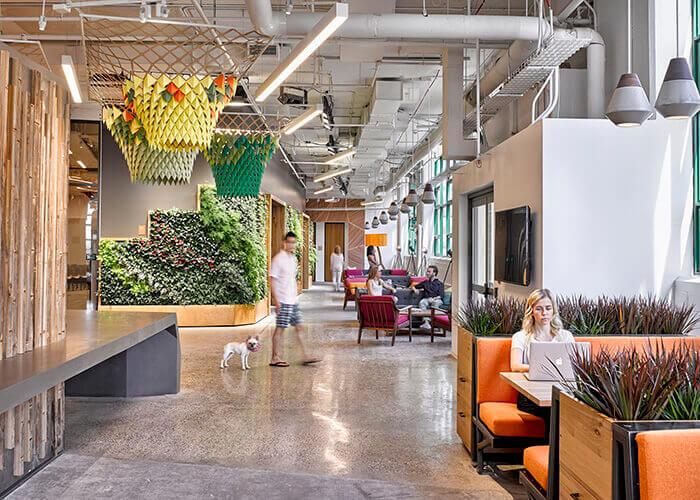 Un modèle de biomimétisme et d'architecture durable : le siège social de Etsy à New York.