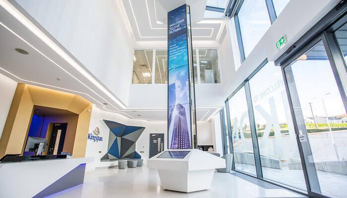 Réception du bâtiment intelligent IKON de Kingspan