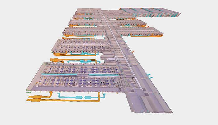 Hôpitaux modulaires : Plan de l'hôpital Huoshenshan à Wuhan, en Chine.