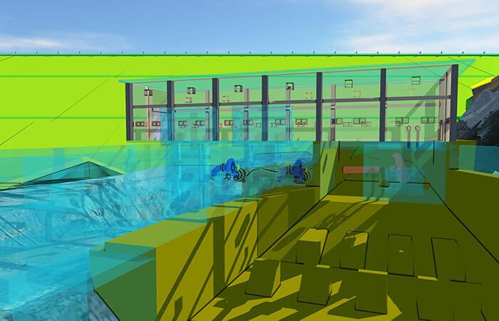 modèle bim 5D du barrage de temef