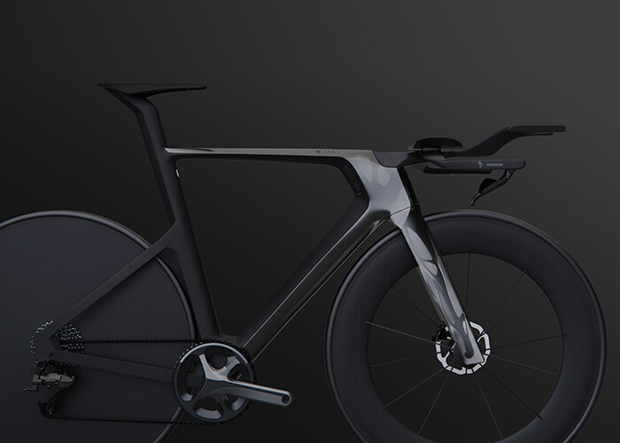 Futur du design chez Decathlon : rendu du vélo conçu avec la conception générative