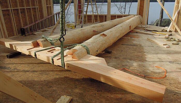 L'assemblage d'un élément d'ossature en bois hybride