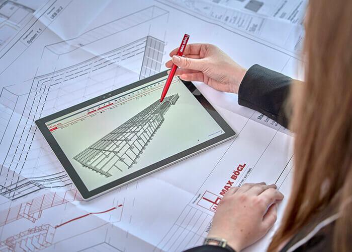 Dès la phase de planification, Max Bögl crée un jumeau numérique du projet, une structure numérique qui permet de gagner beaucoup de temps sur le chantier.