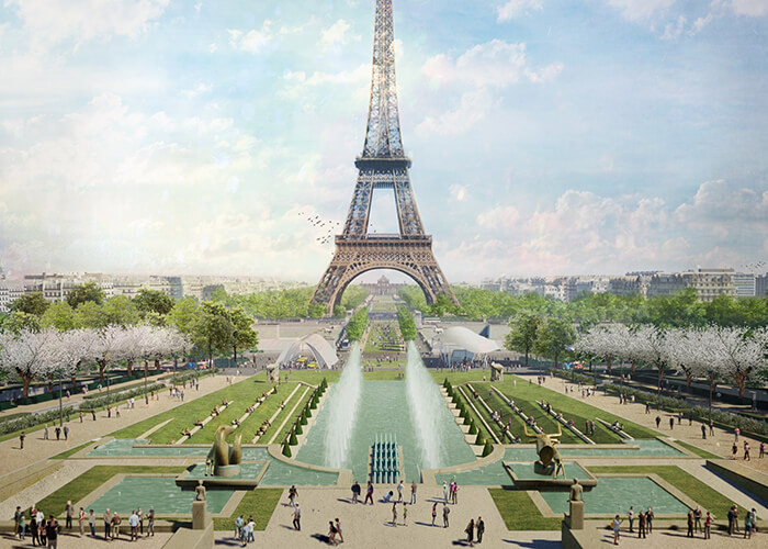 The Trocadéro Fountain will be given back to pedestrians.