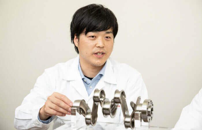 Design albero gomiti Honda Hirosumi Todaka