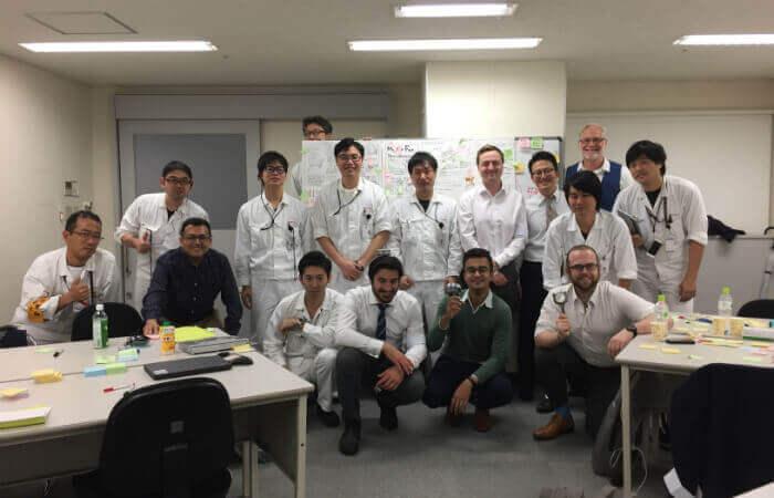 design albero gomiti Honda Workshop in Giappone