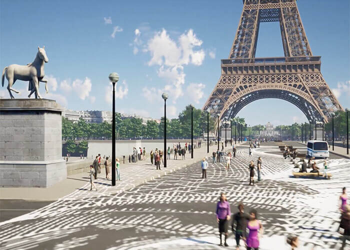modello 3D Torre Eiffel