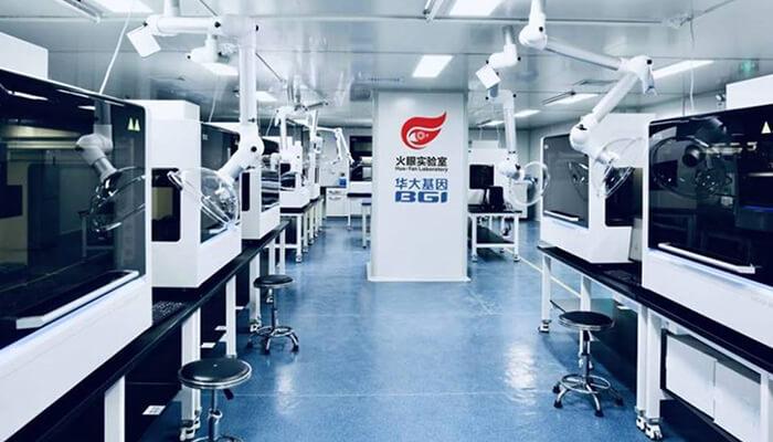 ospedali modulari Fire Eye laboratorio