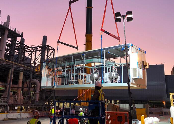 Tendenze produzione 2021: L'edilizia industrializzata ha portato a una maggiore prefabbricazione dei componenti edilizi per il successivo assemblaggio in loco - un richiamo diretto ai processi di produzione.