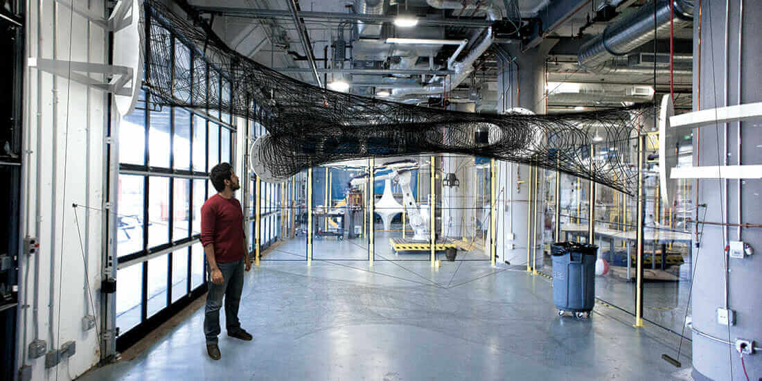 Researcher test properties of carbon fiber building materials
