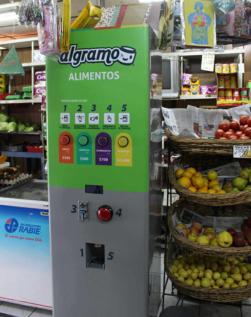 entrepreneurship in Chile Algramo vending machine