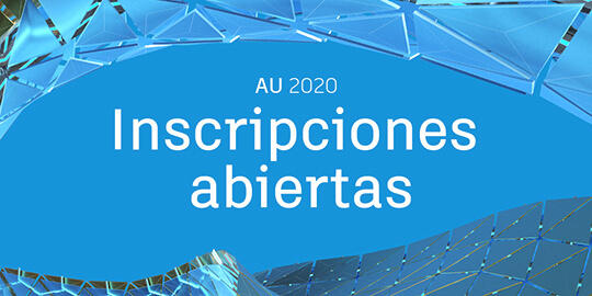 Autodesk University 2020 inscripciones