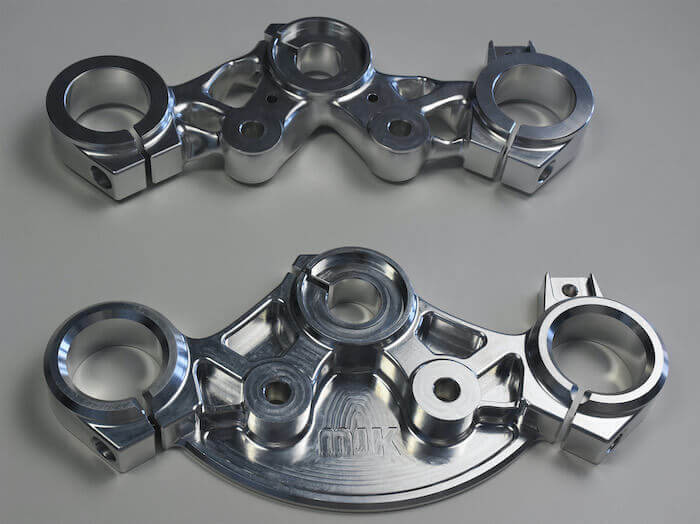 custom harley parts MJK Performance Lower Triple Clamp and Upper Triple Clamp