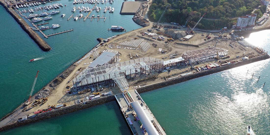 La Terminal de Cruceros de Amador será la primera ubicada en el Pacífico panameño y abrirá nuevas rutas turísticas al conectar con el Atlántico. Gentileza Mallol Arquitectos.