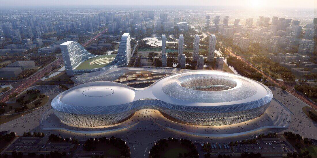 Un proceso BIM ecológico da forma a la construcción del icónico deportivo en China