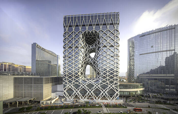 Zaha Hadid's Morpheus Hotel, located at City of Dreams in Macau.