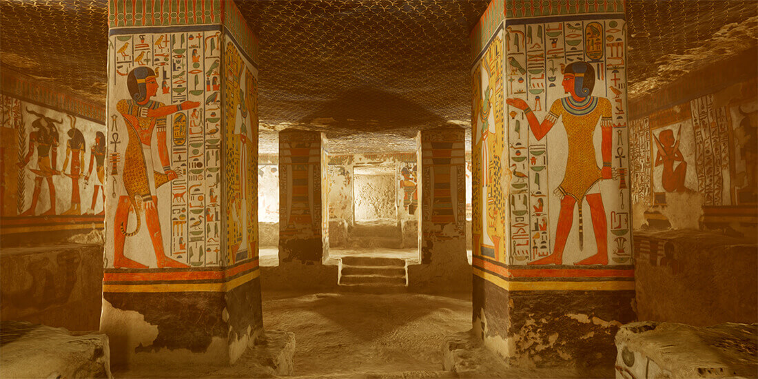 The virtual reality experience of Simon Che de Boer's 'Nefertari: Journey to Eternity.'