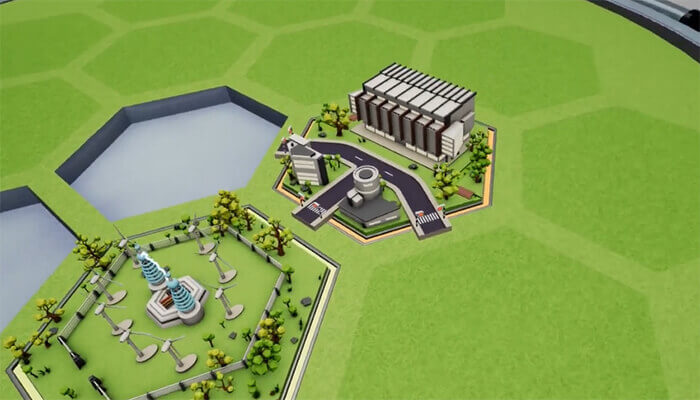 Sustainable urban planning Sustain-a-city tiles in play