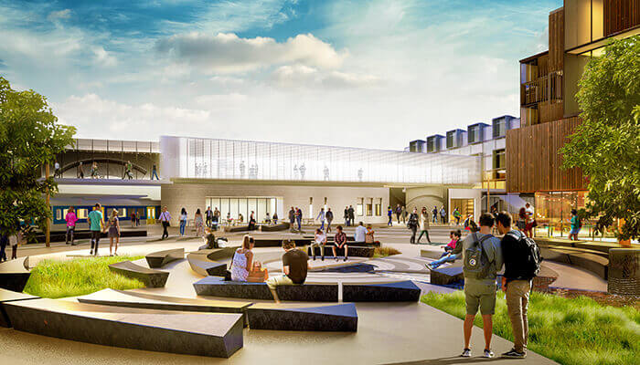 auckland public transport future exterior of the Mount Eden Station rendering
